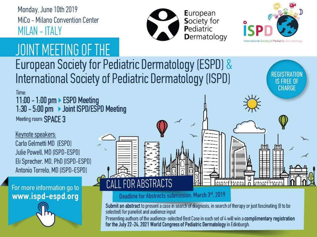 Joint Meeting of the European Society for Pediatric Dermatology (ESPD) & International Society of Pediatric Dermatology (ISPD)